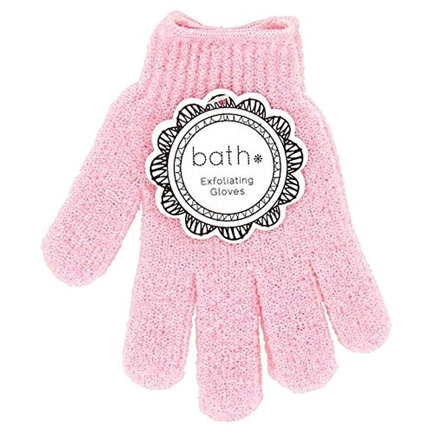 側溝スペクトラム船[Bath Essentials] 手袋を剥離風呂の必需品 - Bath Essentials Exfoliating Gloves [並行輸入品]