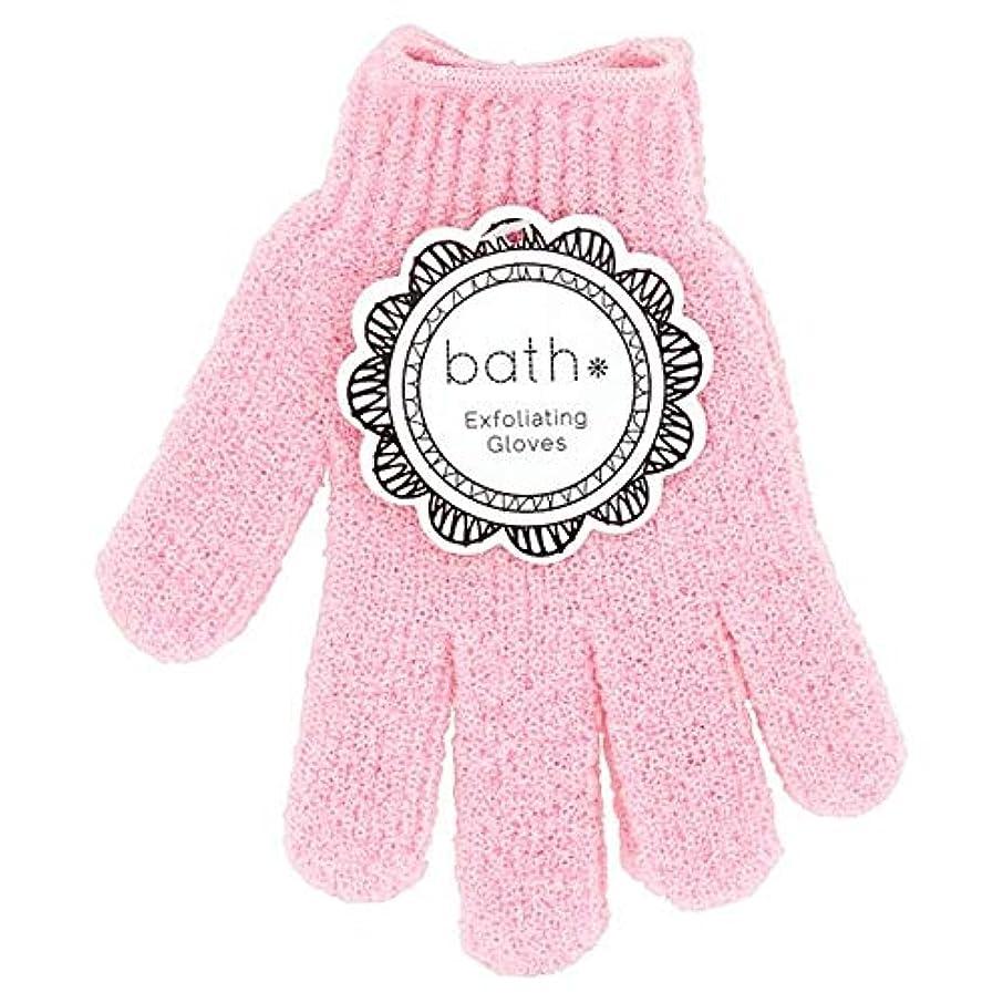 パドル真剣に仕える[Bath Essentials] 手袋を剥離風呂の必需品 - Bath Essentials Exfoliating Gloves [並行輸入品]