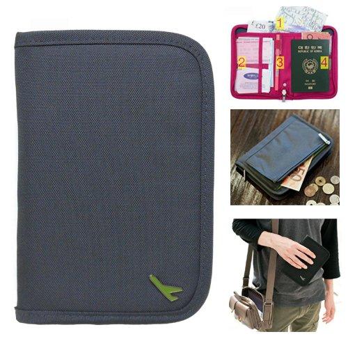 【パスポートケース】 トラベルグッズ 便利グッズ グレー【9701A】