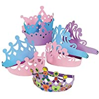 Foam Princess Tiaras Crowns Party Dress-up Role Play Accessory (1-Pack of 12) [並行輸入品]