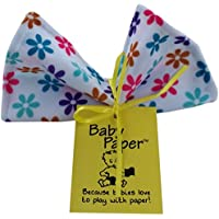Baby Paper - Crinkly Baby Toy - Flower Print by Baby Paper