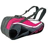 ヨネックス(YONEX) テニス ラケットバック6 (リュック付き、ラケット6本用) BAG1722R ブラック×ピンク