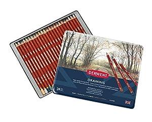 ダーウェント 色鉛筆 ドローイングペンシル 24色セット 0700672