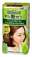 【花王】ブローネ 香りと艶カラー クリーム 4:ライトブラウン 80g ×5個セット