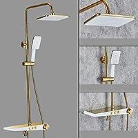 シャワーセットと8インチ降雨シャワーヘッドそしてハンドヘルドシャワー、銅浴槽シャワー器具ウォールマウント,1084