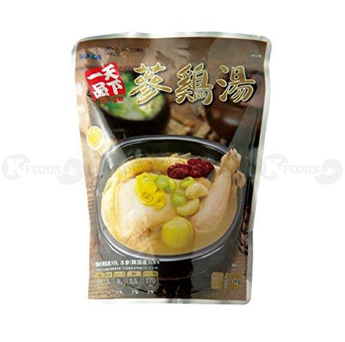 [1314] 天下一品 レトルト 参鶏湯 サムゲタン 韓国料理 鶏肉 スープ 即席 パウチ 1kg [並行輸入品]