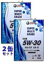 JDA エンジンオイル スーパーマルチグレードエンジンオイル 5W-30 4L 2缶セット全合成基油 SN/CF GF-5