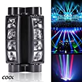 Best DJ用ライト - U`King ミニスパイダーライト ムービングライト  8LEDs DMX512 回転ライト  7/13チャンネル 音声起動  コントローラ制御 Review
