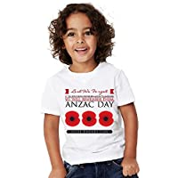 Ryder Co Clothing • Baby Boys Girls T Shirts • Anzac Day • 3 Poppies • Sizes 00,0,1,2,4,6,8,10,12
