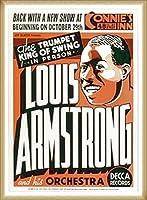 ポスター ルイ アームストロング ルイ アームストロング - Connie\'s Inn NYC、 1935 - 額装品 ウッドベーシックフレーム(ナチュラル)