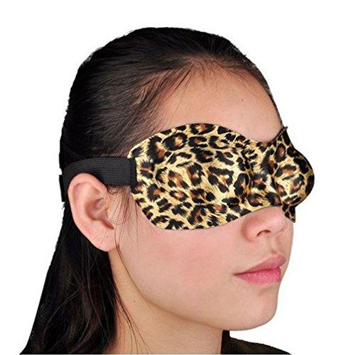 アイマスク 3D 最新型 超立体型 快眠グッズ 超軽量 レオパード 豹柄 出張旅...