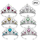 Wenosda 6pcs Dress Up Tiara Crown Set Princess Costume Party Accessories for Kids/Girl/Toddler (Yellow+Blue+Green+Pink+White+Red)