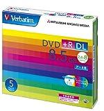 三菱ケミカルメディア Verbatim 1回記録用 DVD+R DL DTR85HP5V1 (片面2層/2.4-8倍速/5枚)