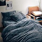 [ベルメゾン] とろけるような 掛け布団 カバー チャコール サイズ:シングル