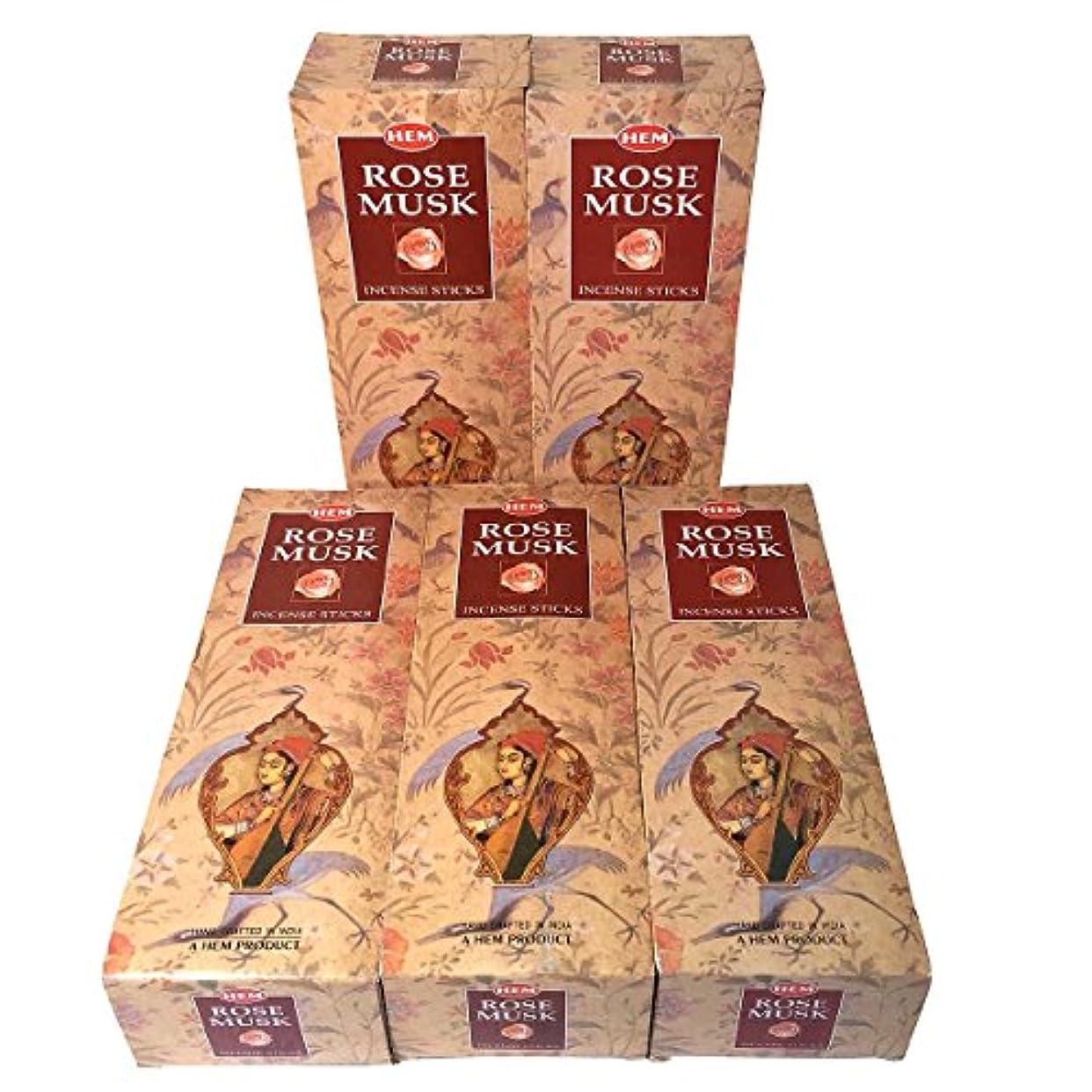 アラブ人君主ハウジングHEM ローズムスク香 スティック 5BOX(30箱)/HEM MAGNOLIA// インド香 / 送料無料 [並行輸入品]