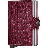 Secridツイン財布、ナイルレッド、Genuine Leather With RFID保護、Holds up to 16カード