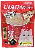 [訳あり(賞味期限2020年3月末)] チャオ (CIAO) 猫用おやつ ちゅ~る まぐろ ほたて味 14g×25本入