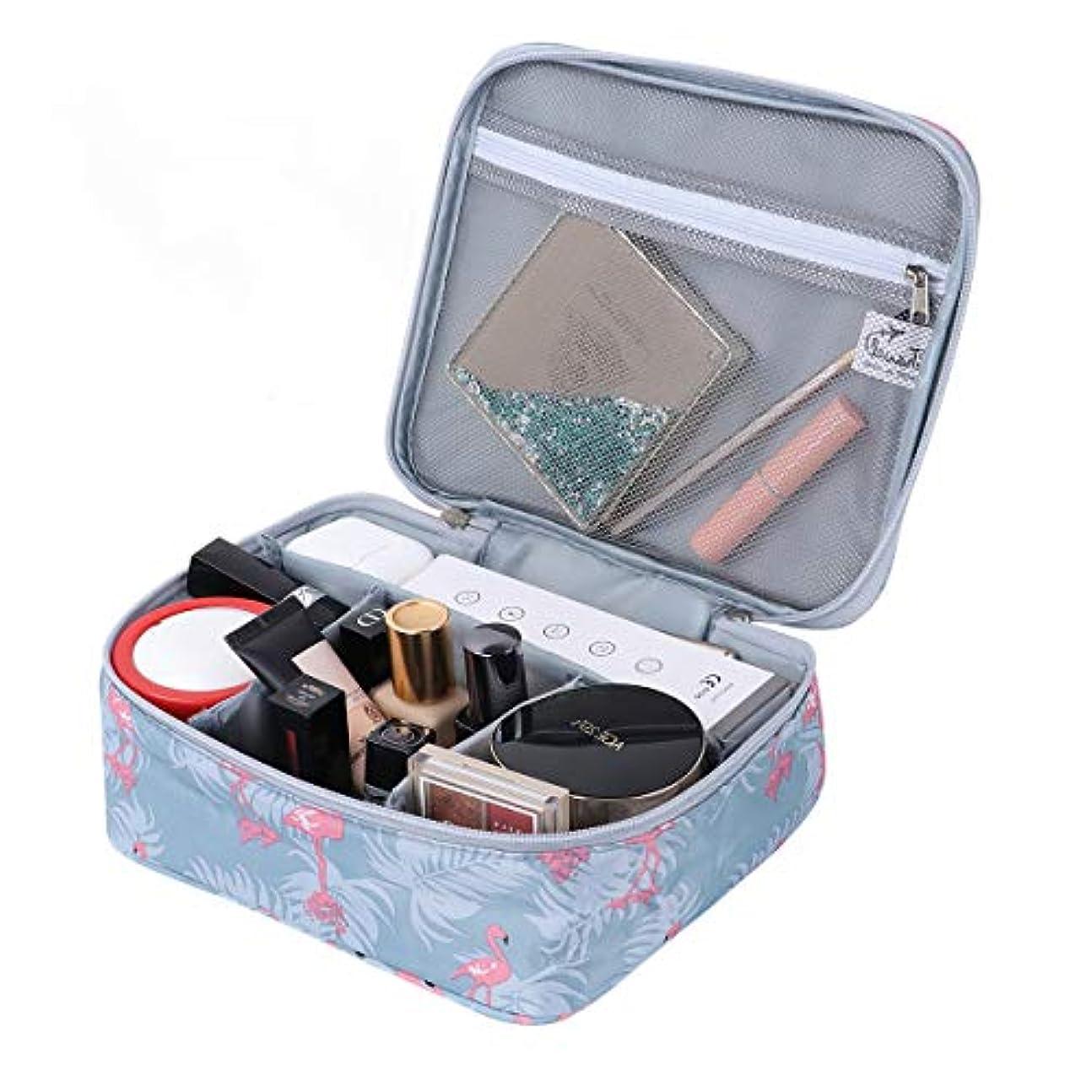 急降下上に築きます単なるメイクポーチ 化粧ケース高品質化粧ポーチ 旅行防水 機能的 収納ケース メイクブラシバッグ 化粧ポーチ 化粧バッグ(Flamingo Grey)