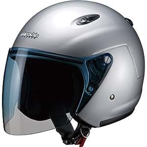 マルシン(MARUSHIN) バイクヘルメット ジェット M-400XL シルバー (61~62CM未満)