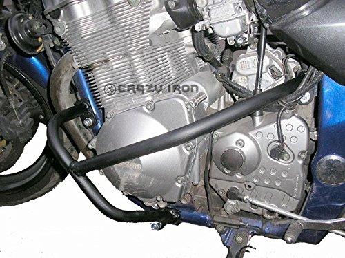スズキ イナズマ400 GSF600 バンディット 00-07 エンジンガード クラッシュバー ブラック [並行輸入品]