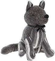 レッサー&パヴェLARGE FOX GRAY STRIPESヘリンボーン布製ドアトップ重さを増した動物用ドアストッパー