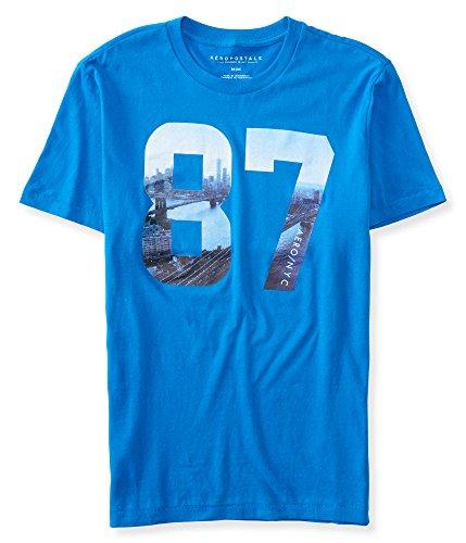 (エアロポステール)AEROPOSTALE 半袖Tシャツ 87 New York Logo Graphic T ネプチューンブルー Neptune Blue (XL) [並行輸入品]