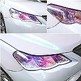 Aiqyi ポータブル車ライトステッカーフィルム 自己接着性の防水 ステッカー装飾ランプテールライトフォグランプ