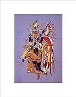 絵画図面Native American鹿ダンスフェザー入りアート印刷b12X 7003 12-Inches x 16-Inches B12X7003_UNFRAMED