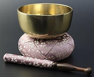 京仏壇はやし モダン仏具 日和 (ひより) りんセット フッ素加工 3寸 / 薄紫