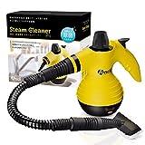 Ancii 強力洗浄タイプ スチームクリーナー 約100℃の高圧蒸気 多目的使用の掃除に セーフティロック スタートキット 水垢油汚れなどに ST-1 (イエロー)