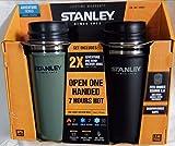 STANLEY スタンレー ワンハンド 真空マグ 473mL ブラックとグリーンの2本セット[並行輸入品]グ 1