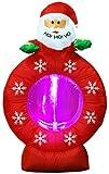 【クリスマスエアブロウ】サンタヘッド スノーウィング  / お楽しみグッズ(紙風船)付きセット