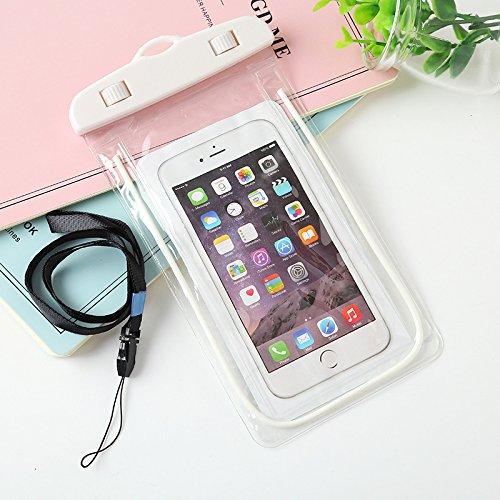 hortensia 防水ケース 白 (ホワイト) 携帯ケース...