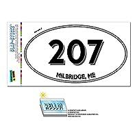 207 - Milbridge, 私に - メイン州 - 楕円形市外局番ステッカー