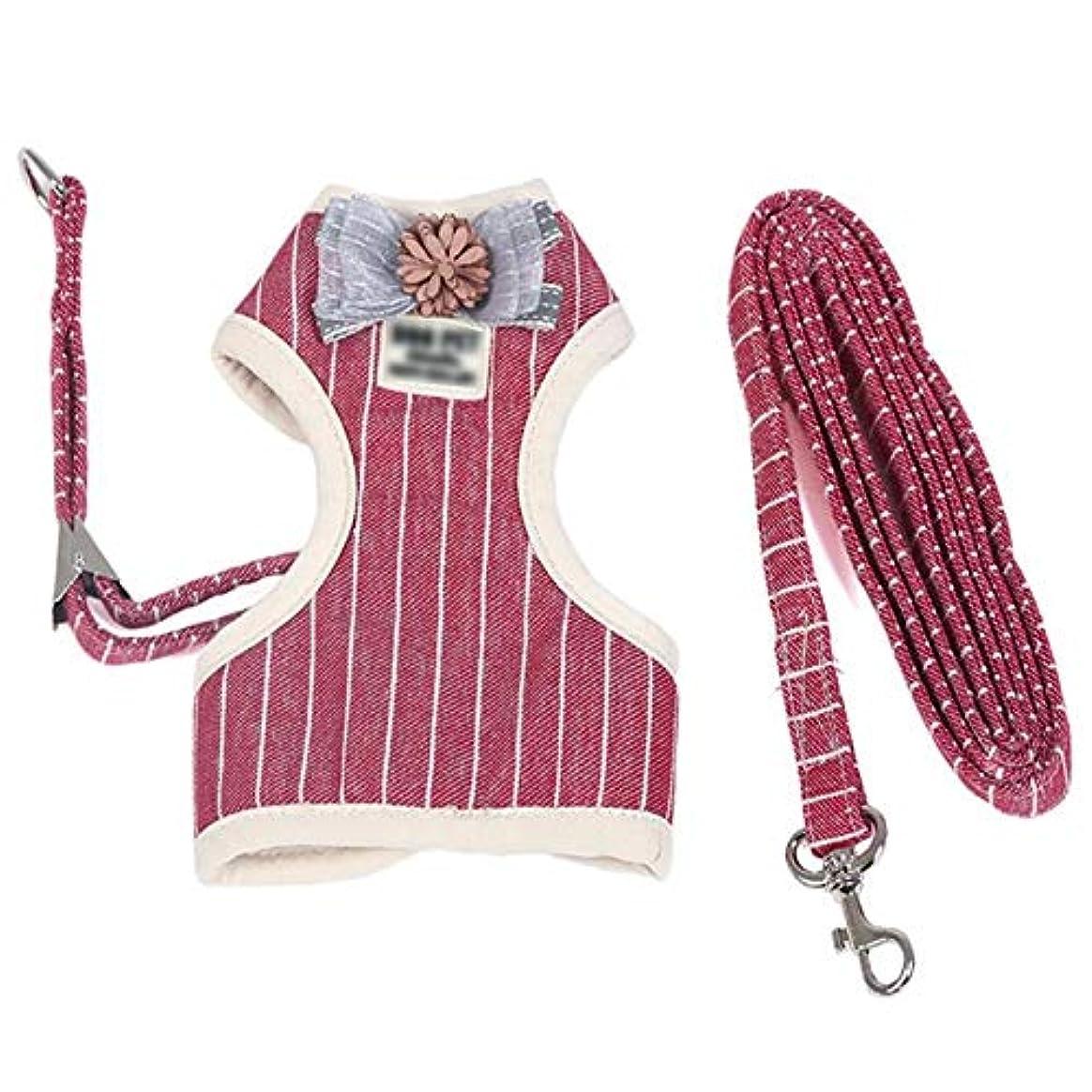 望み戦闘確かな犬の鎖、ベスト型牽引ロープ中小犬の鎖猫の鎖ハイエナロープペット胸部ストラップ用品 (色 : 1002-L)