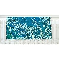 KESS InHouse Iris Lehnhardt Twigs Silhouette Teal Aqua Green Fleece Baby Blanket 40 x 30 [並行輸入品]