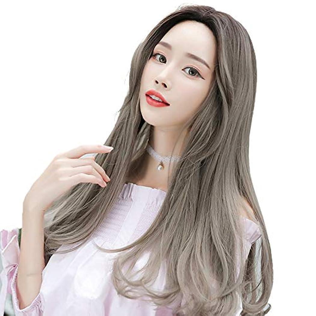 SRY-Wigファッション ヨーロッパとアメリカ前髪の女性のウェーブのかかったかつら毎日の使用または衣装ミドル丈の合成コスプレウィッグ (Color : 03, Size : 25inch)