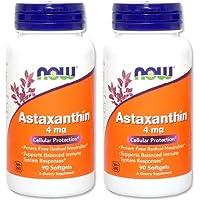 【2個セット】 [海外直送品] NOW Foods アスタキサンチン 4mg 90ソフトカプセル (海外直送品) Astaxan...