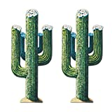 """Beistle S55277AZ2, 2 Piece Jointed Cactus, 51"""", Multicolored"""