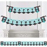 Big Dot of Happiness 50年代ソックホップ 1950年代 ロックンロール 誕生日パーティー バナー 誕生日パーティーデコレーション ハッピーバースデー