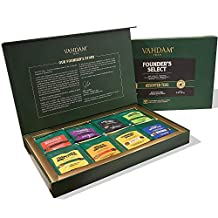VAHDAM, Assorted Tea Bag Sampler - 8 Tea Flavors, 40 Tea Bags Gift Set | OPRAH's FAVORITE TEA | Black Tea, Green Tea, Oolong Tea, Chai Tea, Herbal Tea | Tea Gift Set & Tea Gift Box