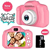Joy-Fun Gifts for 3-8 Year Old Girls Kids Camera 8.0 MP Digital Cameras (Color : Pink)