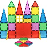 Magnet Build Magnet Tile Building Blocks Extra Strong Magnets & Super Durable 3D Tiles, Educational, Creative, Assorted Shapes & Vibrant Bright Colors (Set of 32)