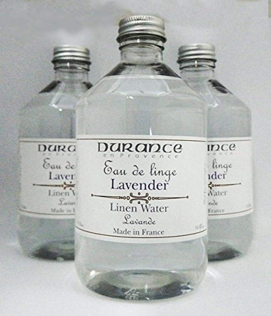 最悪尊敬一杯DURANCE(デュランス) リネンケアシリーズ リネンウォーター「ラベンダー」 500mlx3本セット