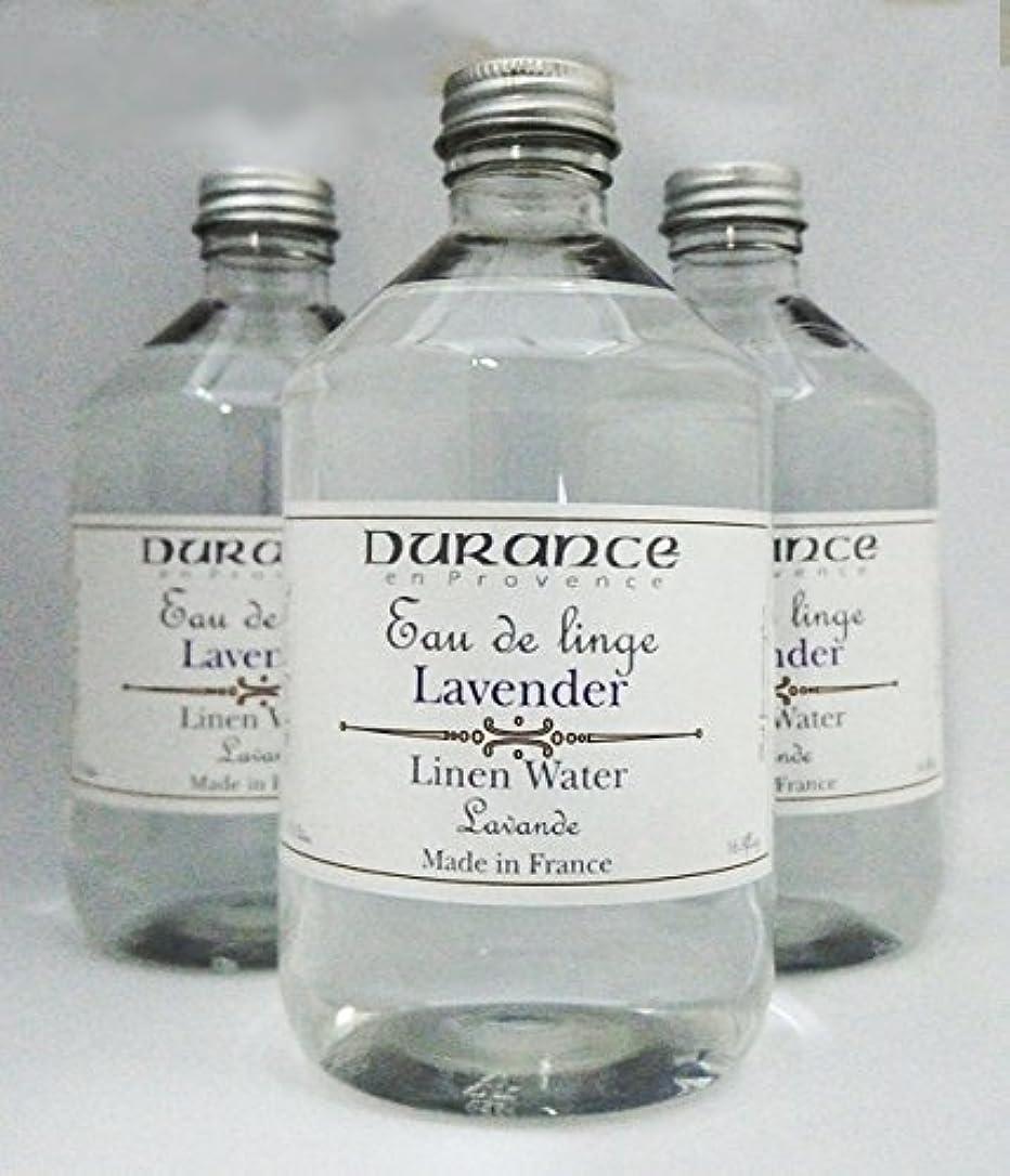 異議ミス現代DURANCE(デュランス) リネンケアシリーズ リネンウォーター「ラベンダー」 500mlx3本セット