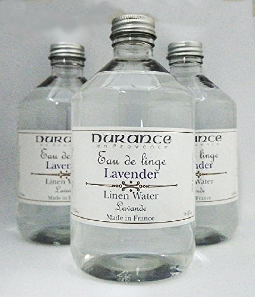 硬化するスペア病なDURANCE(デュランス) リネンケアシリーズ リネンウォーター「ラベンダー」 500mlx3本セット