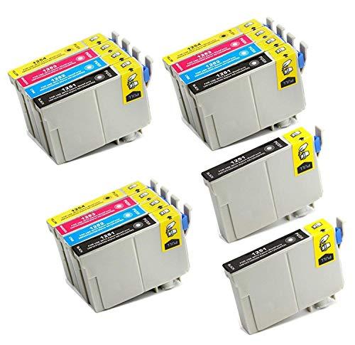ARIA SUPPLIES 125 インクカートリッジ Epson 125 T125用 Stylus NX125 NX127 NX130 NX230 NX420 NX530 NX625 WorkForce 320 323 325 520 プリンター (14個パック)