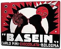 S-RONG雑貨屋 ブリキブリキ 看板レトロ デザイン 20x30cm Retro Basein Chocolate