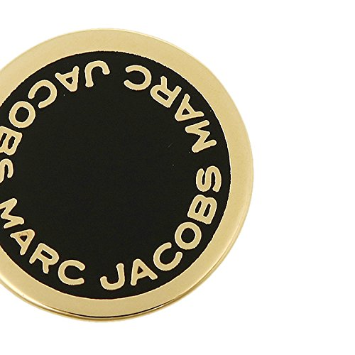 マークジェイコブス ピアス アクセサリー MARC JACOBS M0008544 062 LOGO DISC ENAMEL STUDS ブラック/ゴールド [並行輸入品]