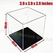 Acrylic Display Case/Box (3.9x3.9x3.9 Inches) Cube Perspex Dustproof ShowCase For Amiibo Figures Baseball by Wiseford [並行輸入品]